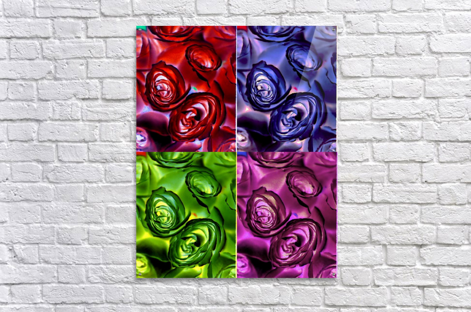 PSYCHEDELIC ROSES   Acrylic Print