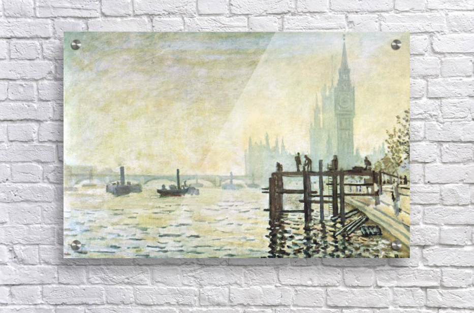 Westminster Bridge in London by Monet  Acrylic Print