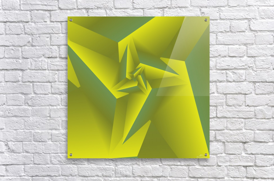 3D Triangle Pattern Art  Acrylic Print