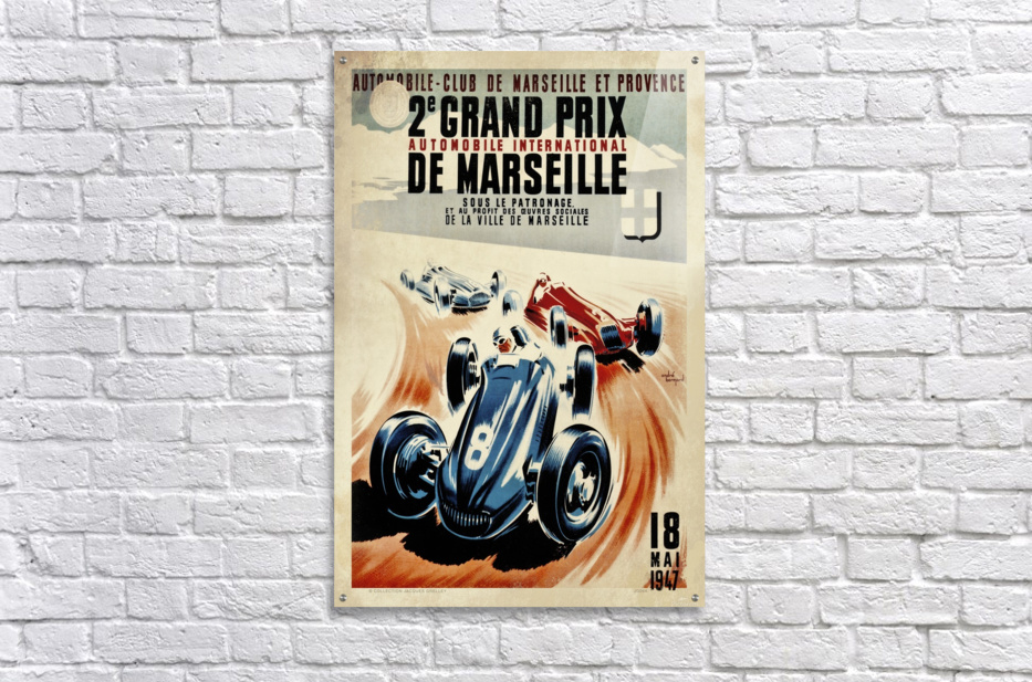 Marseille 2nd Grand Prix Automobile International 1947  Acrylic Print