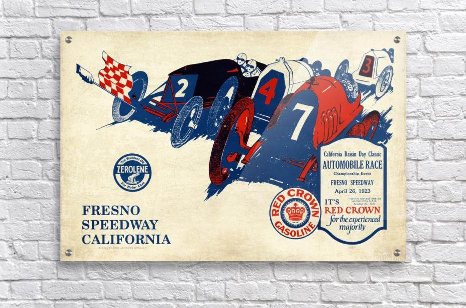 California Raisin Day Classic Automobile Race Championship Event Fresno Speedway 1923  Acrylic Print