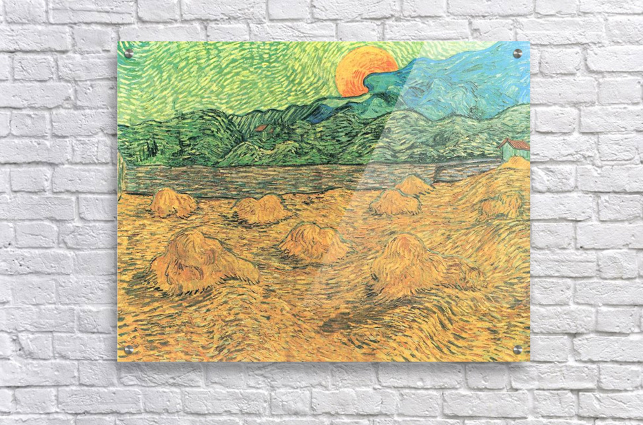 Evening landscape at moonrise by Van Gogh  Acrylic Print