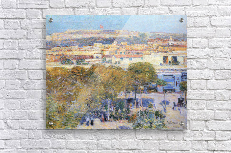 Central Place and Fort Cabanas, Havana by Hassam  Acrylic Print