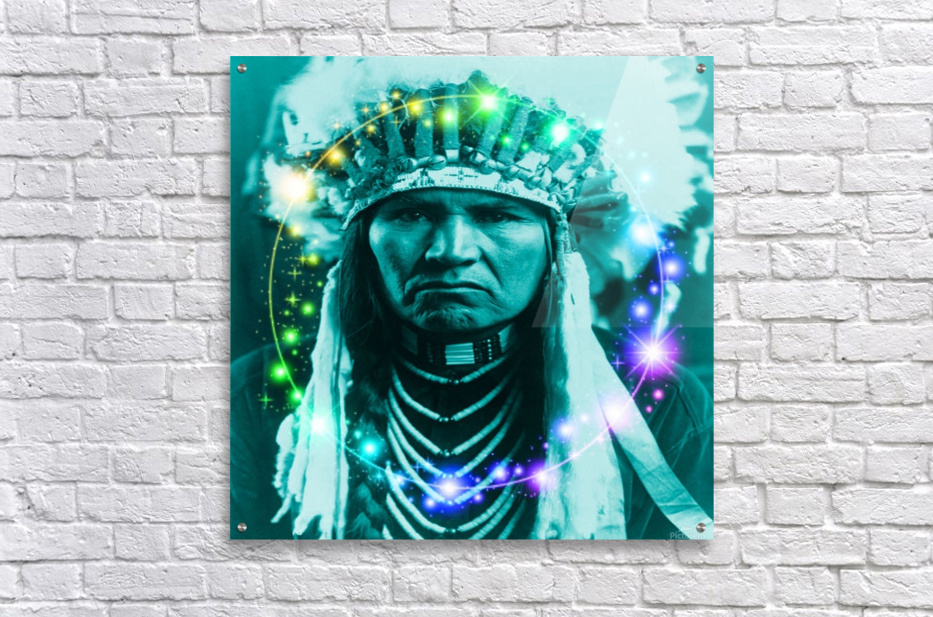 Magical Indian Chief  Acrylic Print