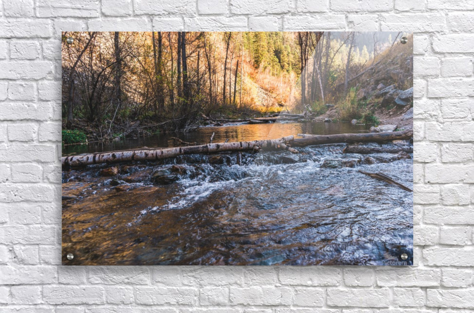 Log Block Creek  Acrylic Print