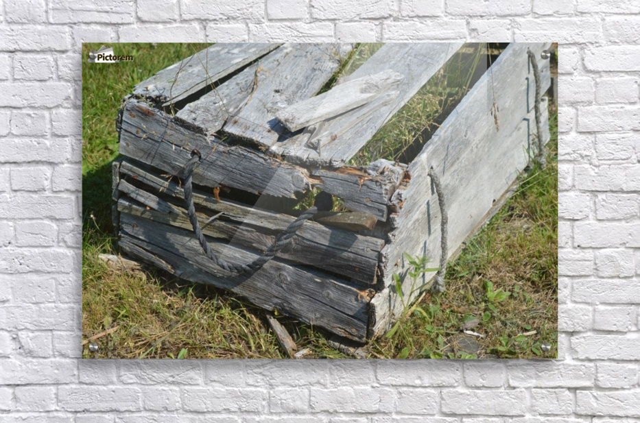 Used Wood  Acrylic Print