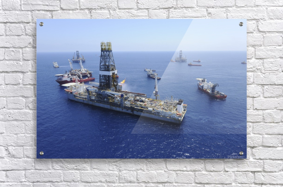 Flaring operations conducted by the drillship Discoverer Enterprise.  Acrylic Print