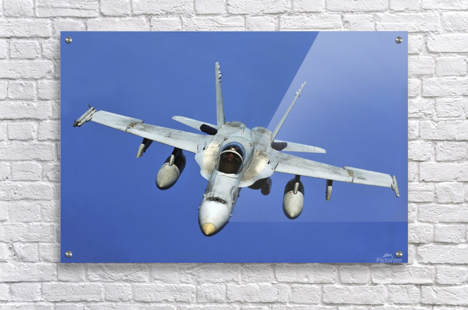 A F-A-18 Hornet participates in a mission in support of Rim of the Pacific.  Acrylic Print