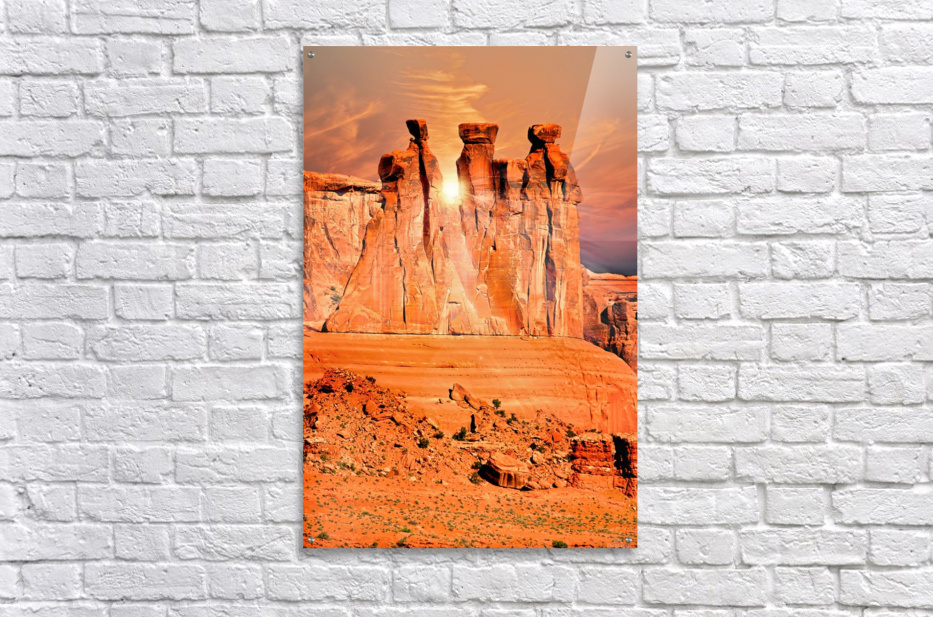 Three Gossips  Acrylic Print