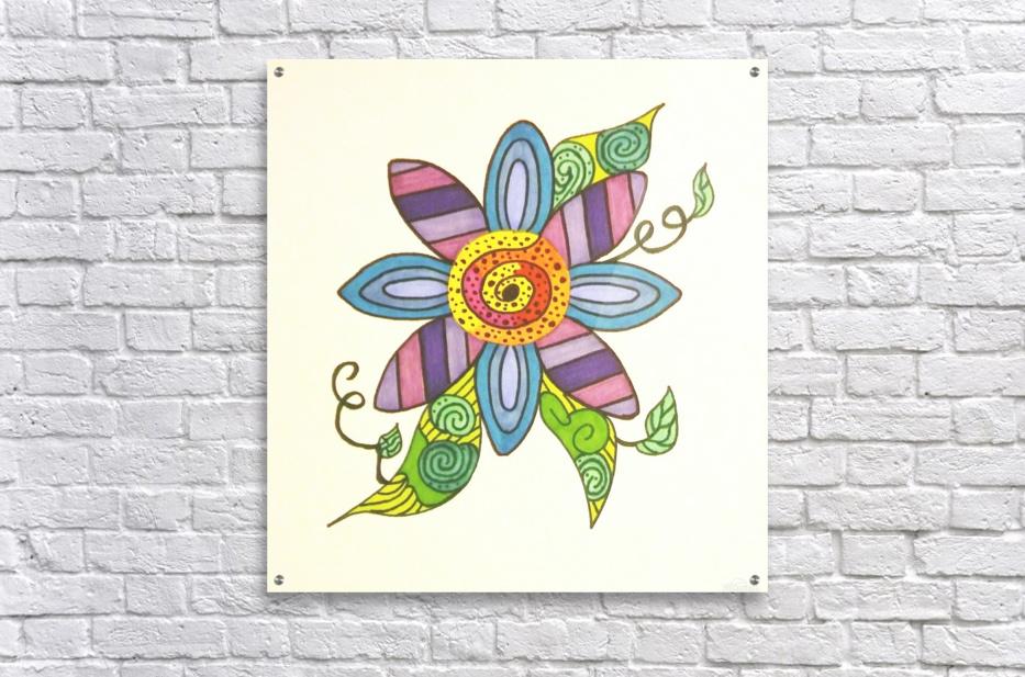 Flower of Color n Lines - SarahJo Hawes - Canvas Artwork