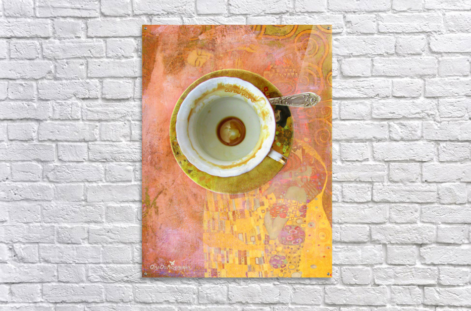 Coffee with Klimt  Acrylic Print