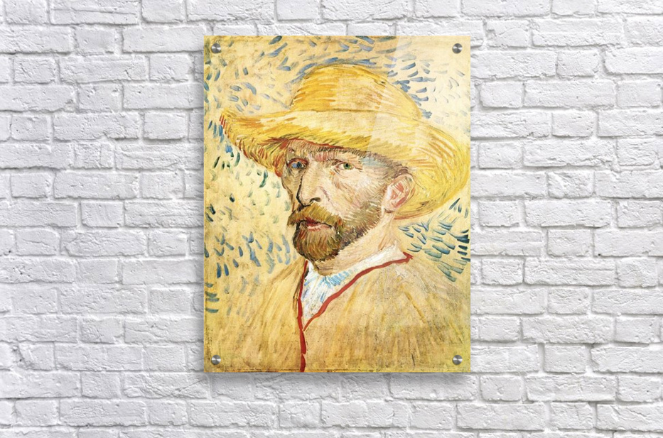 Self-Portait with straw hat by Van Gogh  Acrylic Print