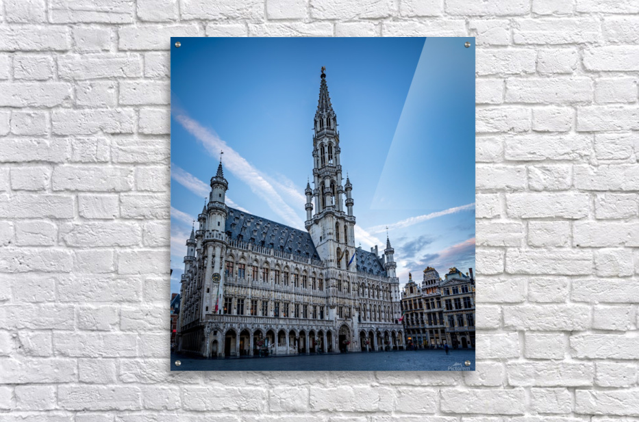 Town Hall in the Grand Place - Belgium  Acrylic Print
