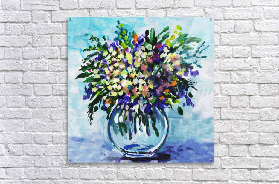 Impressionistic Flowers Burst Of Beauty  Acrylic Print