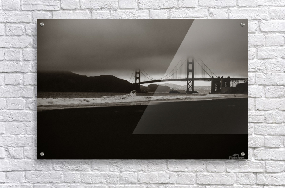 B&W Golden Gate  Impression acrylique