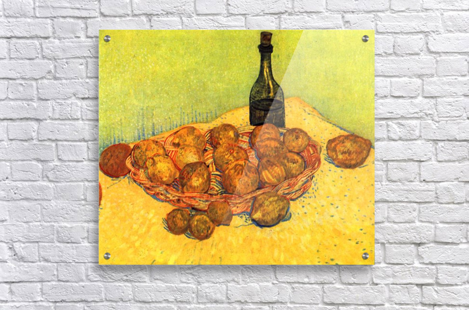 Still Life with Bottle, Lemons and Oranges by Van Gogh  Acrylic Print