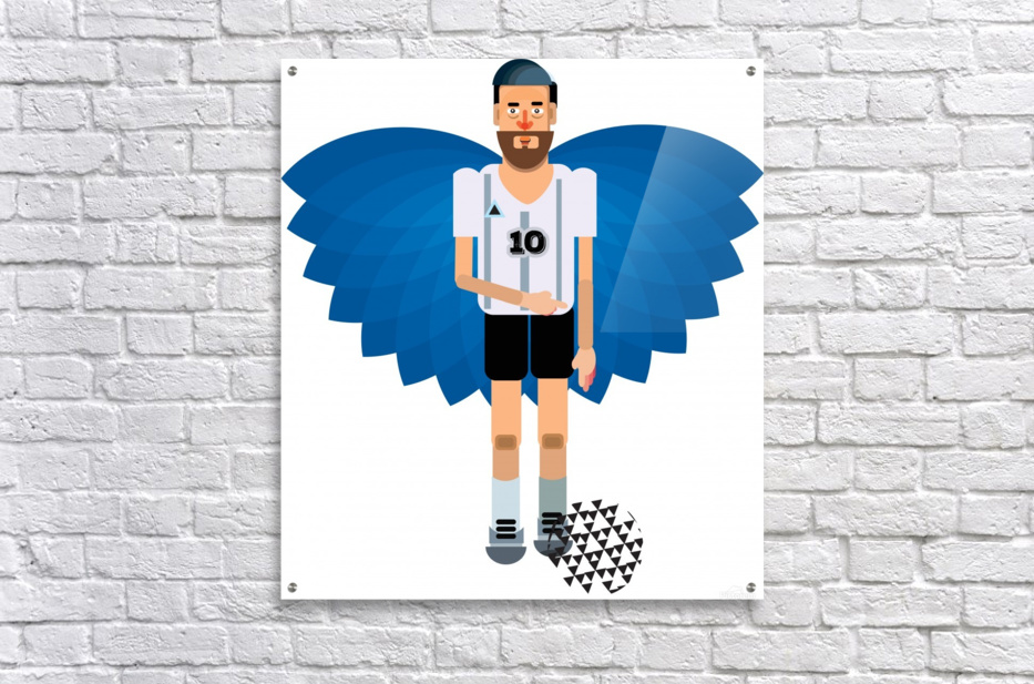 Lionel Messi illustration   Acrylic Print