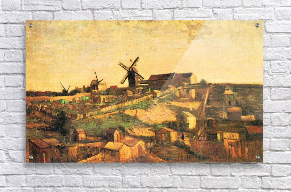 The Montmartre hill with windmills by Van Gogh - Van Gogh Canvas