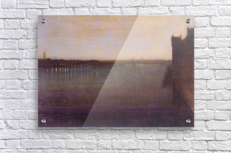 Nocturne in gray and gold, Westminster Bridge by James Abbot McNeill Whistler  Acrylic Print