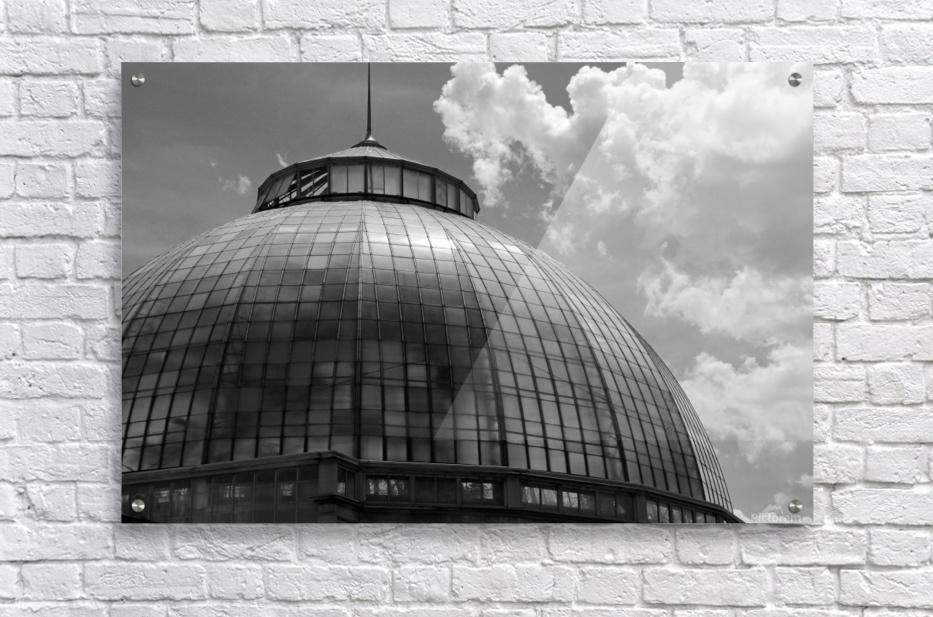 Belle Isle Conservatory Dome BW  Acrylic Print