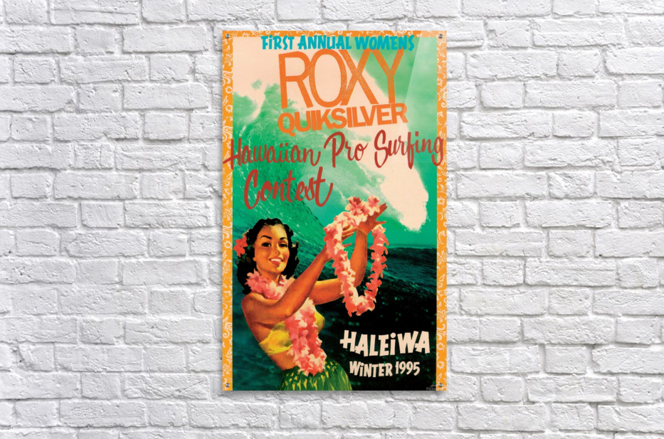 1995 ROXY QUICKSILVER HAWAII PRO Surfing Competition Poster  Acrylic Print