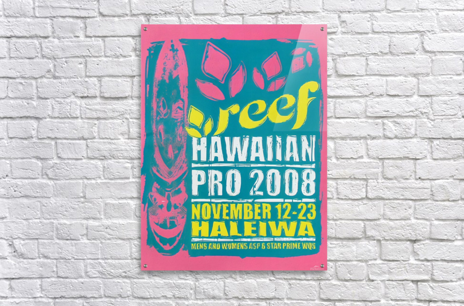 2008 REEF HAWAIIAN PRO Surf Competition Poster  Acrylic Print