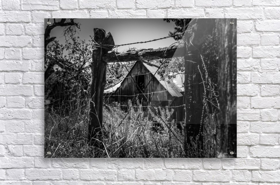 Abandoned Black and White  Acrylic Print