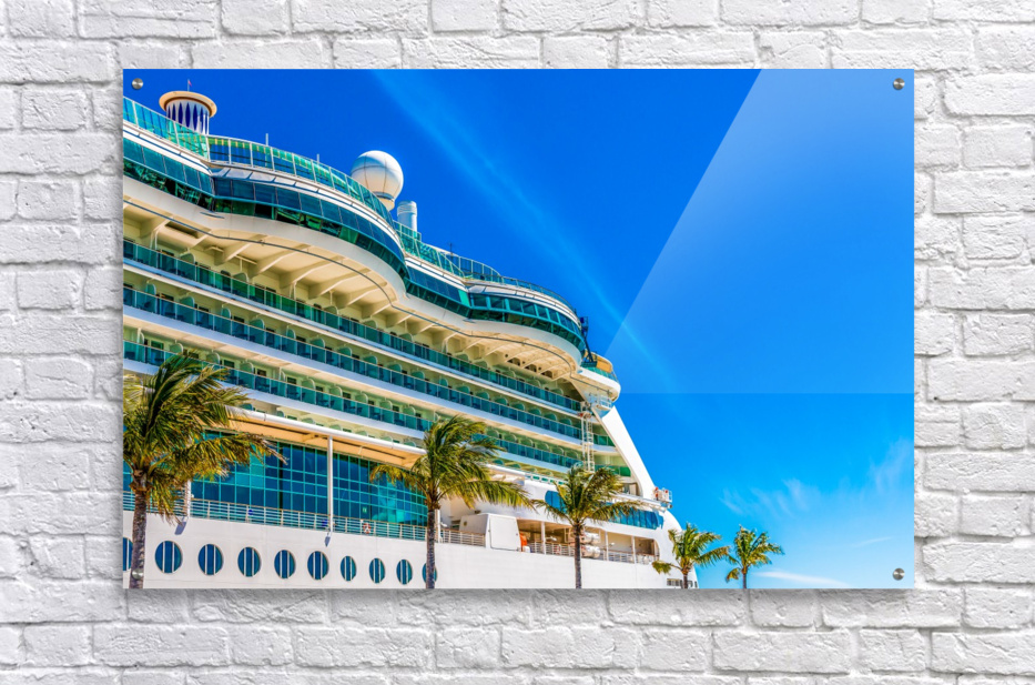 Cruise Ship in Paradise  Acrylic Print