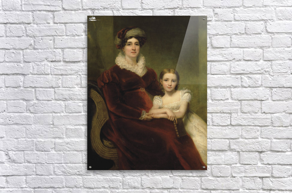 Mrs.Alexander Allan with her granddaughter  Acrylic Print