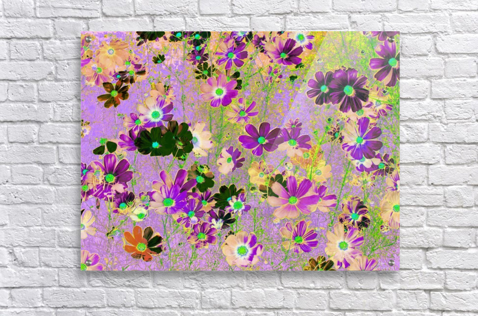 Flowers Garden Purple  Acrylic Print