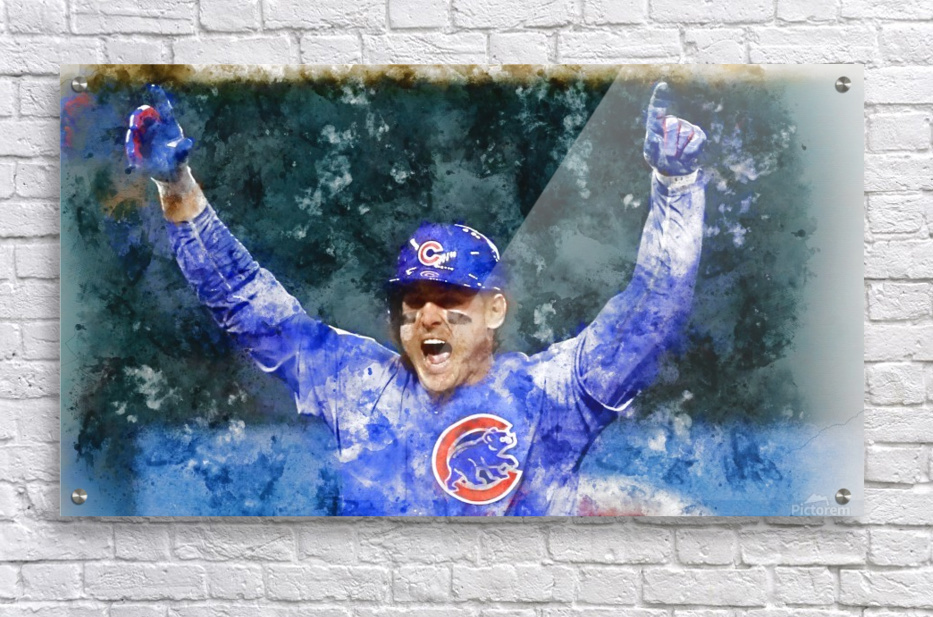 ANTHONY RIZZO Water Color Print - Chicago Cubs Print  Acrylic Print