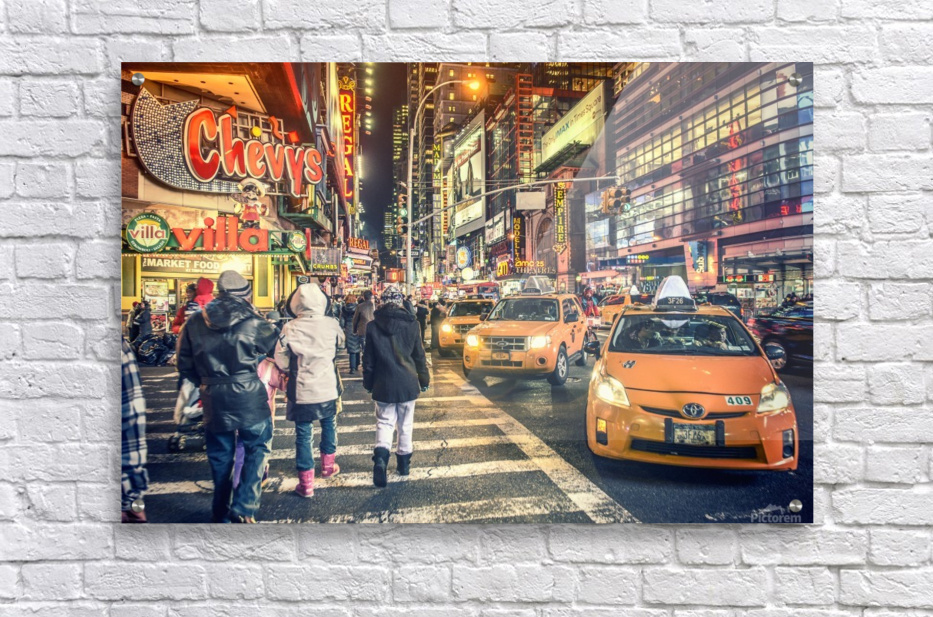 New York City Taxi Mayhem   Acrylic Print