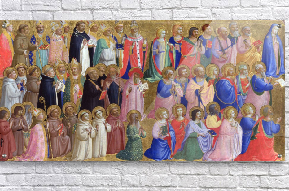 The Virgin Mary with the Apostles and Saints  Acrylic Print