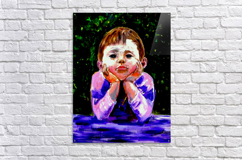 A Young Boy is Waiting  Impression acrylique