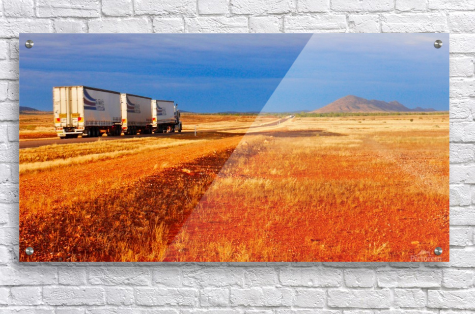 Road Train to Somewhere  Acrylic Print