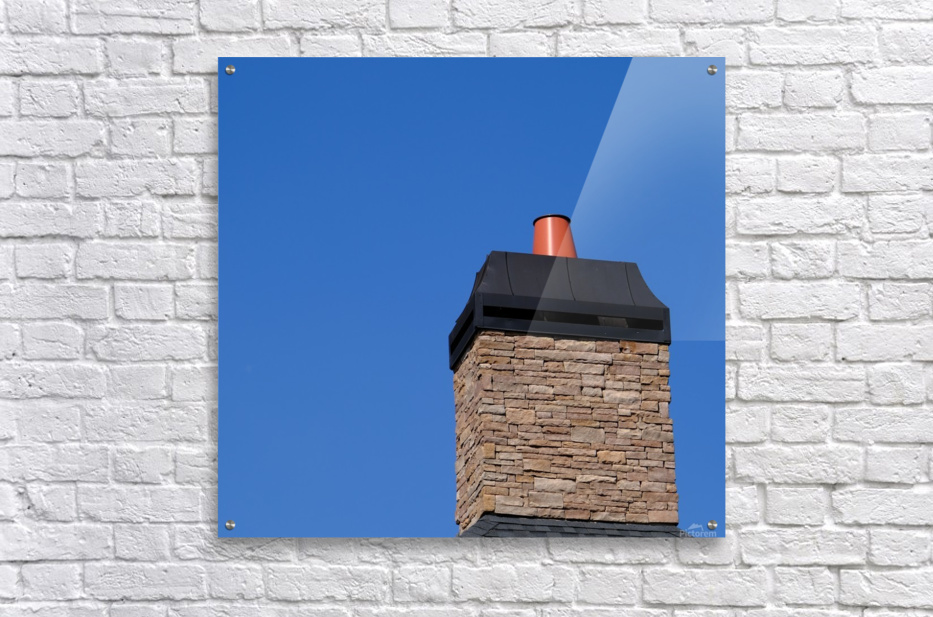 Stone Chimeny with Metal Cap  Acrylic Print