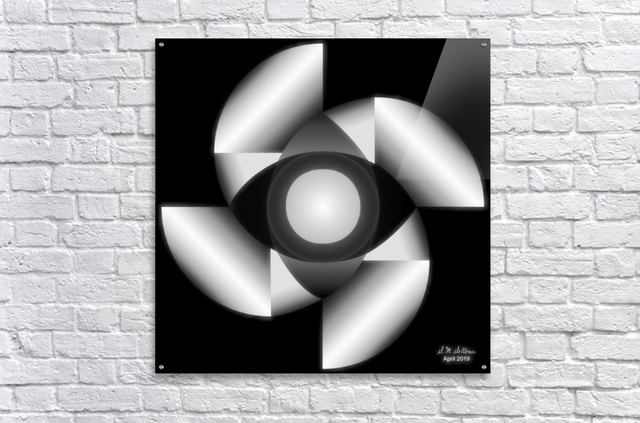 1-Golden Ratio B&W  Acrylic Print