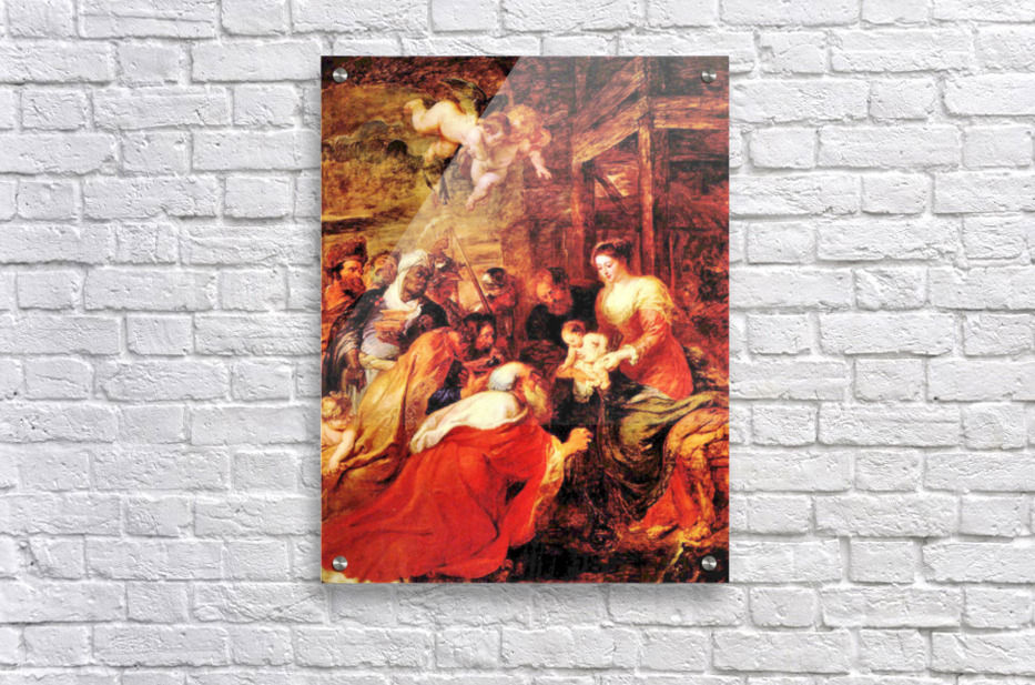 Adoration of the Magi by Rubens  Acrylic Print