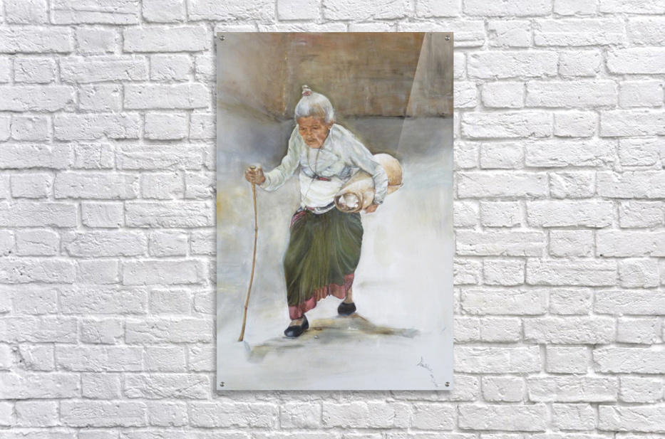 Old_Woman_High_Res  Acrylic Print