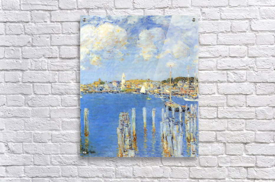 The inland port of Gloucester by Hassam  Acrylic Print