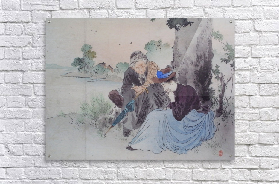 Acrylic Print. Acrylic print Women talking near tree ... daf9f8e48