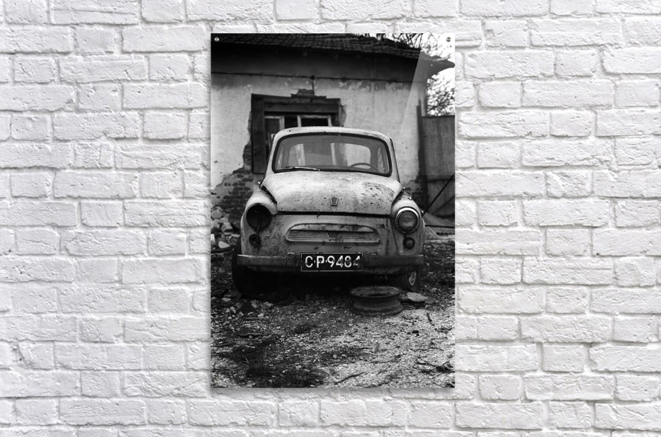 Abandoned ZAZ 965  USSRs replica of FIAT 600  Acrylic Print