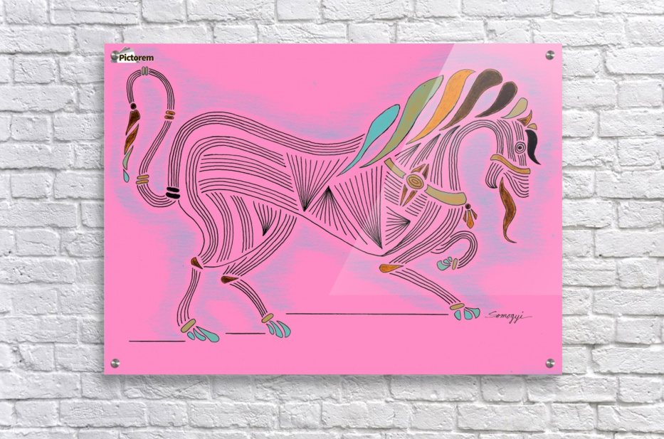 RARIN' TO GO--Bright on Hot Pink  Acrylic Print