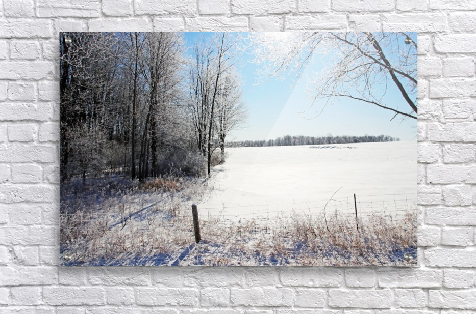 Frosty Winter Countryside I  Acrylic Print