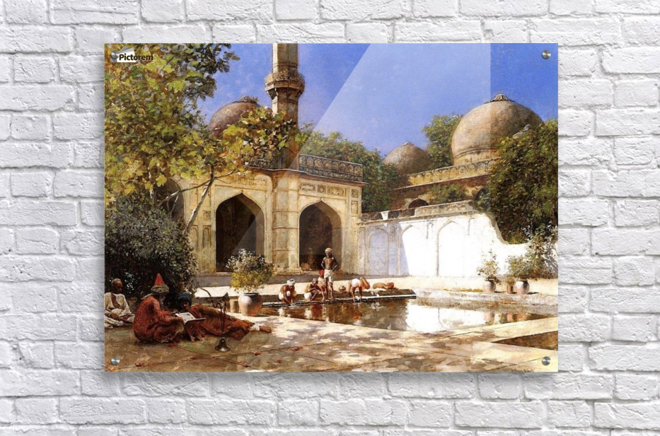 Figures in the Courtyard of a Mosque  Acrylic Print