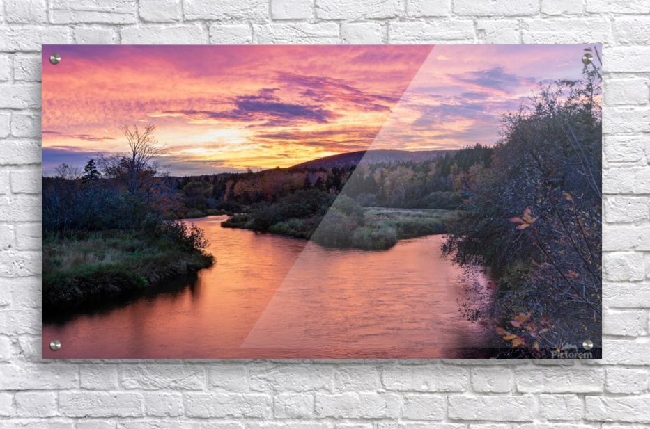 Early morning on the Margaree river   Acrylic Print