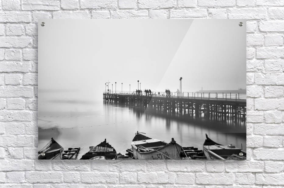 Foggy sea bridge  Acrylic Print