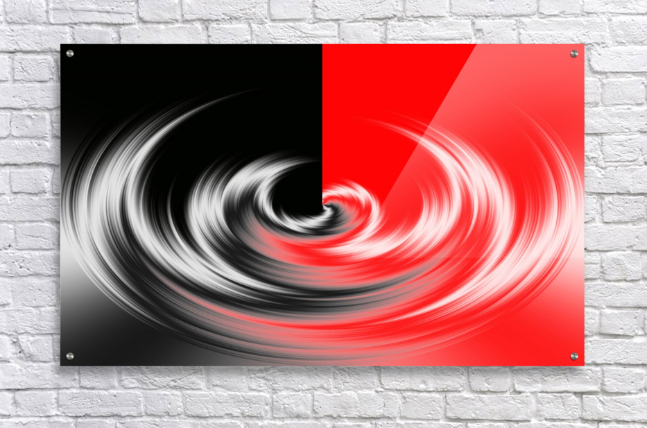 Black White Red Abstraction  Acrylic Print
