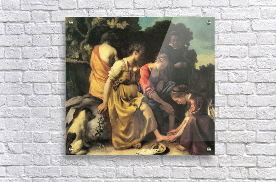 Diana and her nymphs by Vermeer  Acrylic Print