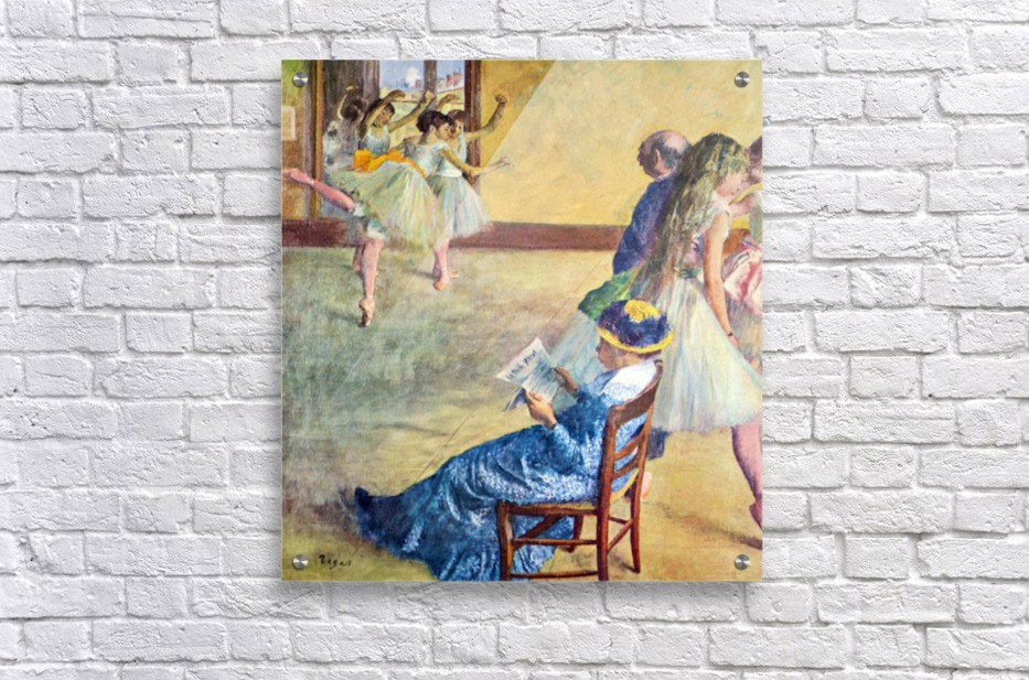During the dance lessons - Madame Cardinal by Degas  Acrylic Print